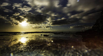 Photograph - Rock Pool Sunrise by Chris Cousins
