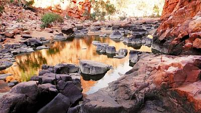 Photograph - Rock Pools - Ormiston Gorge by Lexa Harpell