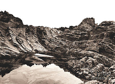 Photograph - Rock - Sepia by Rebecca Harman