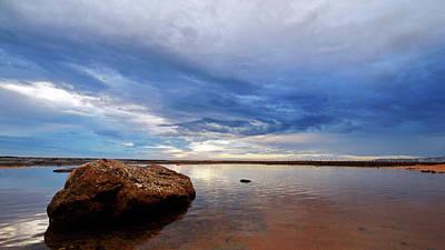 Photograph - Rock Shelf At Narrabeen Headland by Nicholas Blackwell