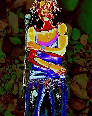 Digital Art - Rock Singer by Cliff Wilson