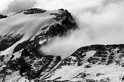 Photograph - Rock Snow Ice And Cloud 2 by James Brunker