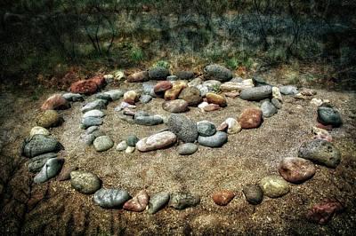 Rock Spiral At Buddha Beach - Sedona Art Print