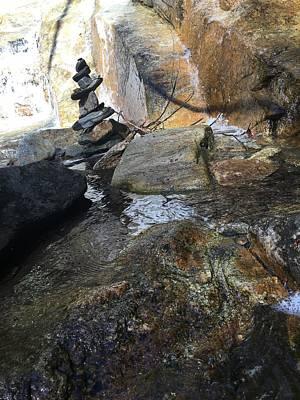 Photograph - Rock Stack At Jones Gap Falls by Kelly Hazel
