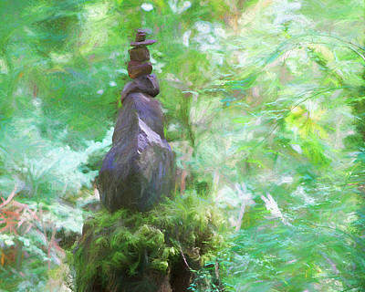 Photograph - Rock Stack  by Kathy Bassett