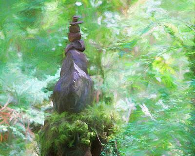 Photograph - Rock Stack  by Kathy Bassett