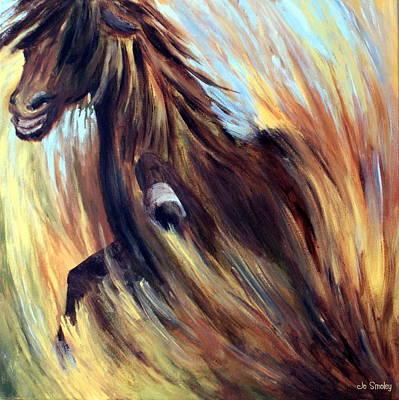 Marsh Grass Painting - Rock Star by Joanne Smoley