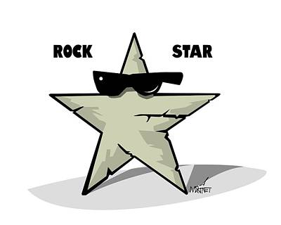 Digital Art - Rock Star by Mike Martinet