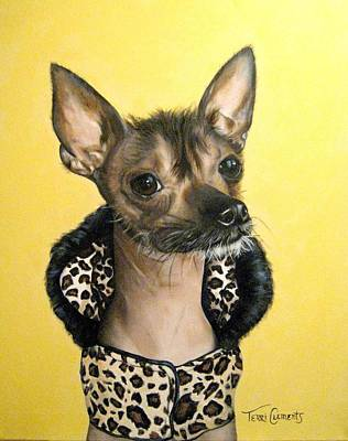Dog Clothes Painting - Rock Star by Terri Clements