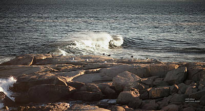 Photograph - Rock, Surf, Mosaic by Mark Alesse