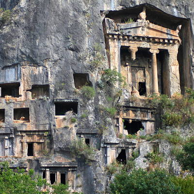 Photograph - Rock Tombs Photograph Fethiye by Taiche Acrylic Art