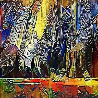 Water Activity Drawing - rock - My WWW vikinek-art.com by Viktor Lebeda