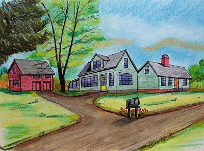 Drawing - Rock Village Haverhill Ma by Paul Meinerth