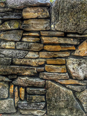 Photograph - Rock Wall 02 by Bill Owen