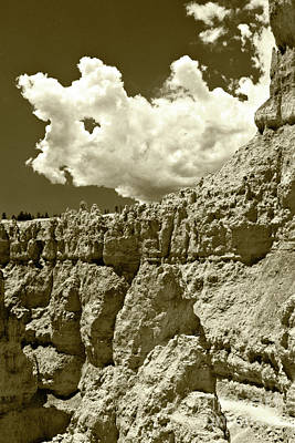 Art Print featuring the photograph Rock Wall And Sky by Pete Hellmann