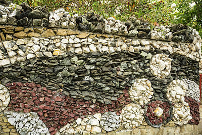 Photograph - Rock Wall At Causland Park by Tom Cochran