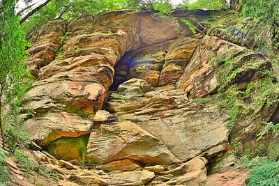 Photograph - Rock Wall At Rock House by Lisa Wooten