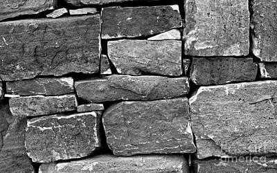 Photograph - Rock Wall Bw by Tim Richards