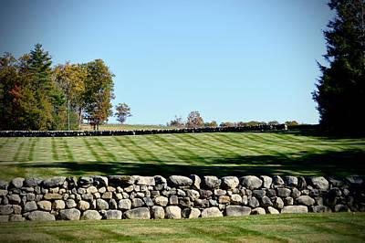 Photograph - Rock Wall Lawn by Chris Alberding