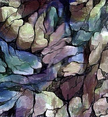 Digital Art - Rock Wall by Megan Walsh