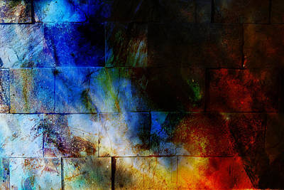 Stonewall Painting - Rock Wall Texture. Ocher Background. Coloor Efect by Jozef Klopacka