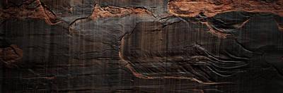 Photograph - Rock Wall Triptych Prt 1 by Nadalyn Larsen