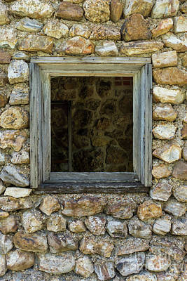 Photograph - Rock Wall Window by Jennifer White