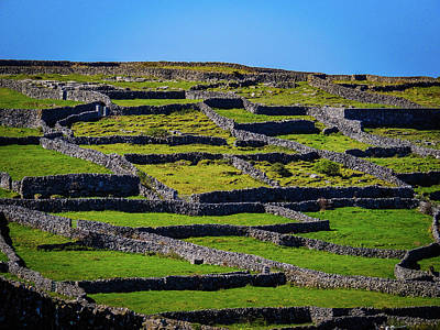 Photograph - Rock Walls Of Inisheer, Aran Islands by James Truett