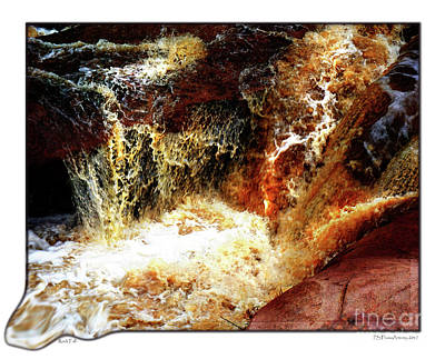 Digital Art - Rock Water Fall by Deborah Nakano