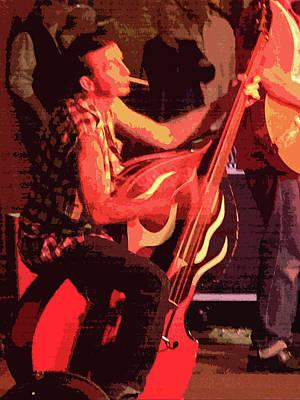 Rockabilly Bass Player Art Print by Andy Jeter