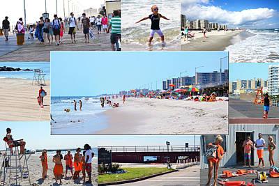 Rockaway Beach And Boardwalk 003 Art Print by Maureen E Ritter