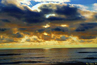Photograph - Rockaway Sunset #2 Enhanced by Ben Upham III