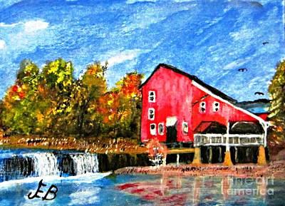 Grist Mill Painting - Rockbridge Grist Mill by John Burch