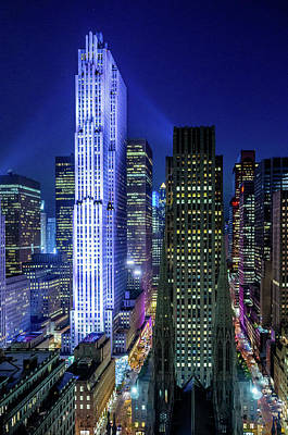 Rockefeller At Night Art Print