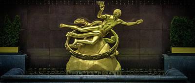 Bronze Photograph - Rockefeller Building New York by Martin Newman