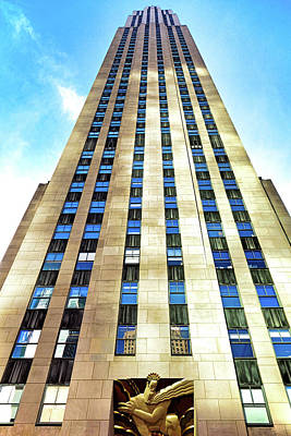 Photograph - Rockefeller Center 30 Rock by Robert Meyers-Lussier