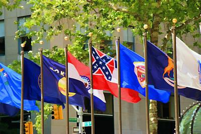 Rockefeller Center Flags Art Print by Allen Beatty