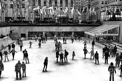 Winter In The City Photograph - Rockefeller Center Ice Skating by John Rizzuto