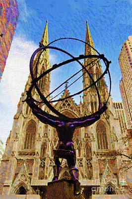 Digital Art - Rockefeller Center In New York City by Rafael Salazar