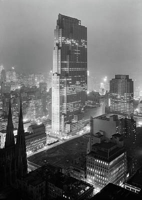 Landmarks Royalty Free Images - Rockefeller Center - NYC - Winter 1933 Royalty-Free Image by War Is Hell Store