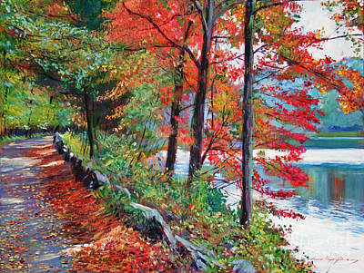 New York State Painting - Rockefeller Park by David Lloyd Glover