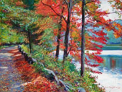 Pathways Painting - Rockefeller Park by David Lloyd Glover