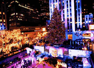 Rockefeller Plaza Photograph - Rockefeller Tree Color 16 by Scott Kelley