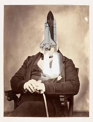 Digital Art - Rocket Away Your Gentleman by Keshava Shukla