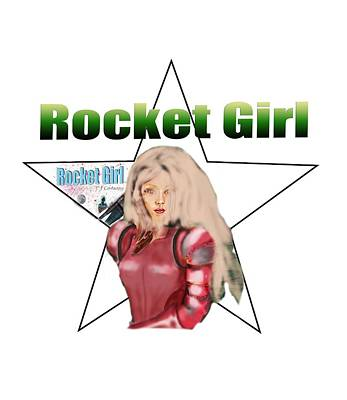 Painting - Rocket Girl by Tom Conway