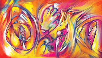Expressionist Digital Art - Rocket by Julianne Black