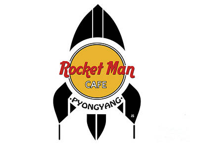 Digital Art - Rocket Man Cafe Pyongyang by Joseph J Stevens
