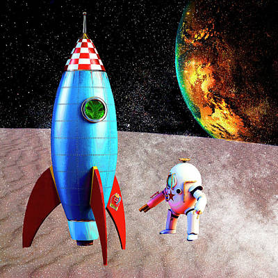 Painting - Rocket Man by Sandra Selle Rodriguez
