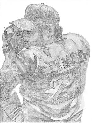 Cy Young Pitcher Drawing - Rocketman by Mike Pedone