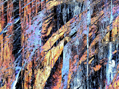 Digital Art - Rockfalls by Stephanie Grant